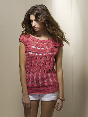 free summer top knitting pattern