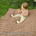 FREE PATTERN: Lattice Baby Blanket