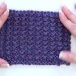 HOW TO: Make the Mock Rib Stitch