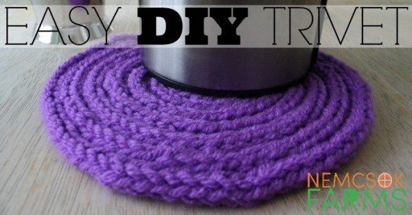 How To Make A Trivet Out Of I Cord