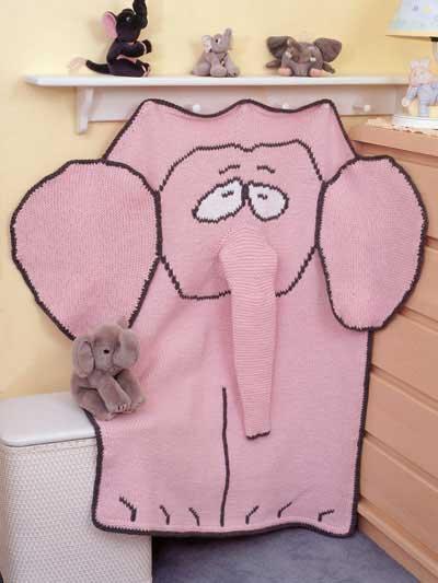 Free Pattern Elephant Baby Blanket