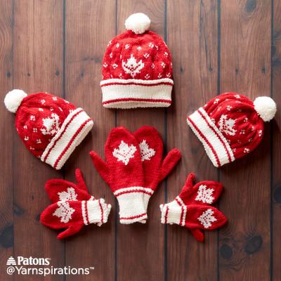 FREE PATTERNS  Yarnspirations Celebrates Canada150 b5324a85341