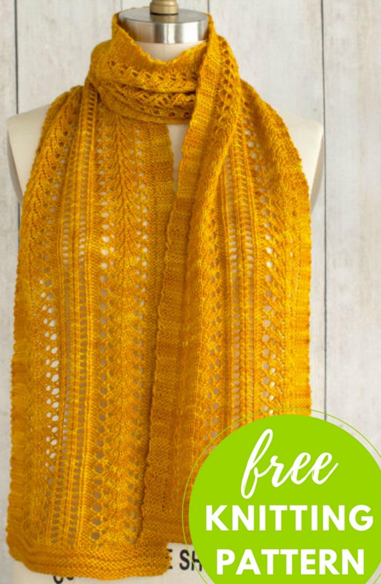 free lace scarf knitting pattern |